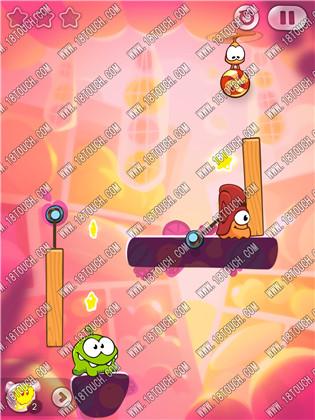 割绳子2水果城堡6 9关三星图文攻略 巧用木桩就能过 超好玩