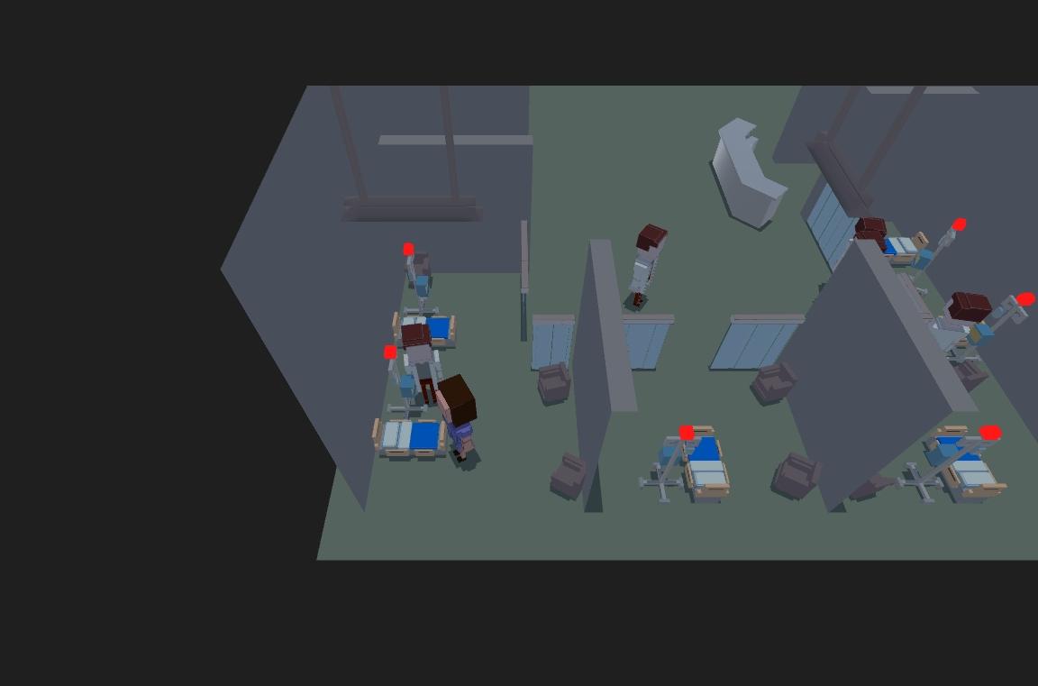 病房场景矢量图