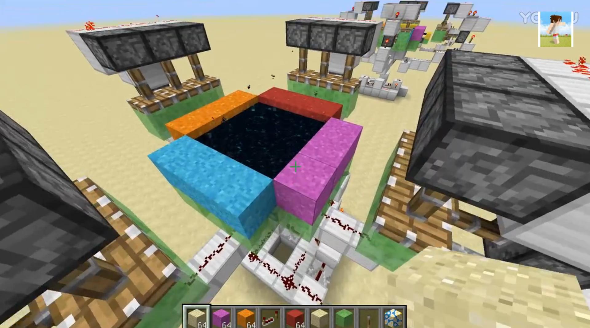 我的世界怎么刷混凝土 红石自动刷混凝土机如何做