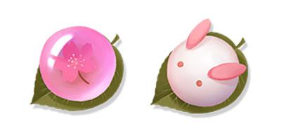 """图二:泡泡皮肤""""祭典果子""""与""""御守兔团"""".jpg"""